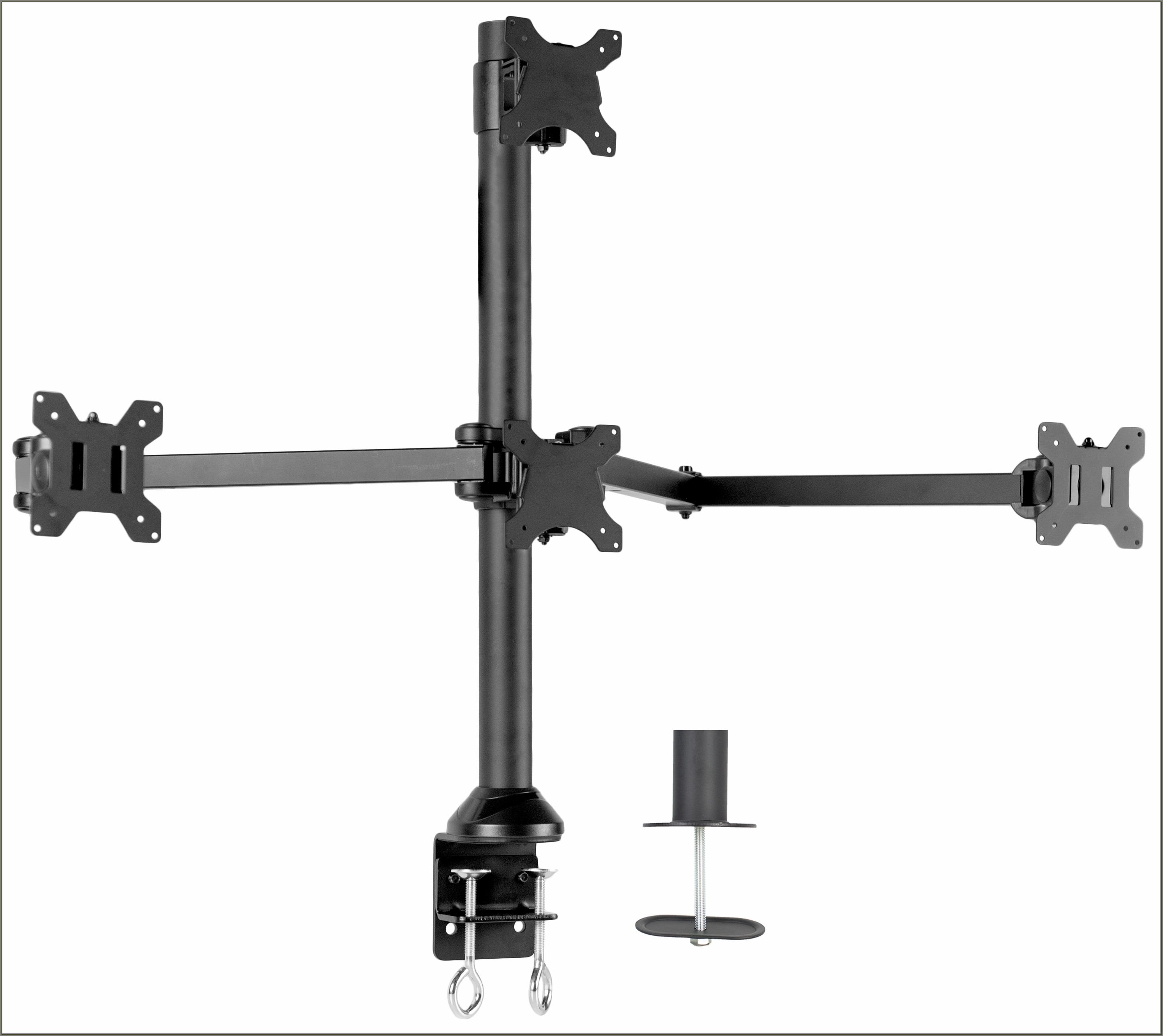 Quad Monitor Desk Mount