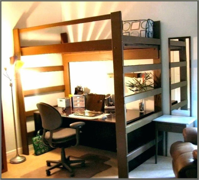 Queen Bunk Bed With Desk Underneath