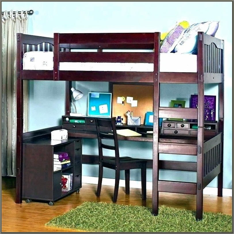 Queen Bunk Bed With Desk