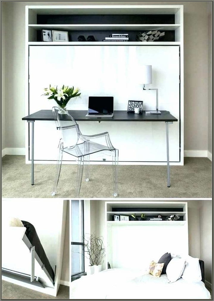 Queen Size Wall Bed With Desk