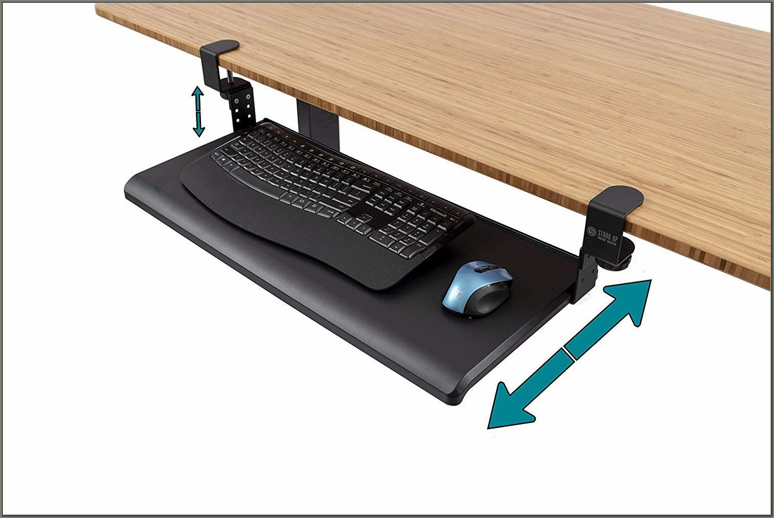 Retractable Keyboard Tray Under Desk