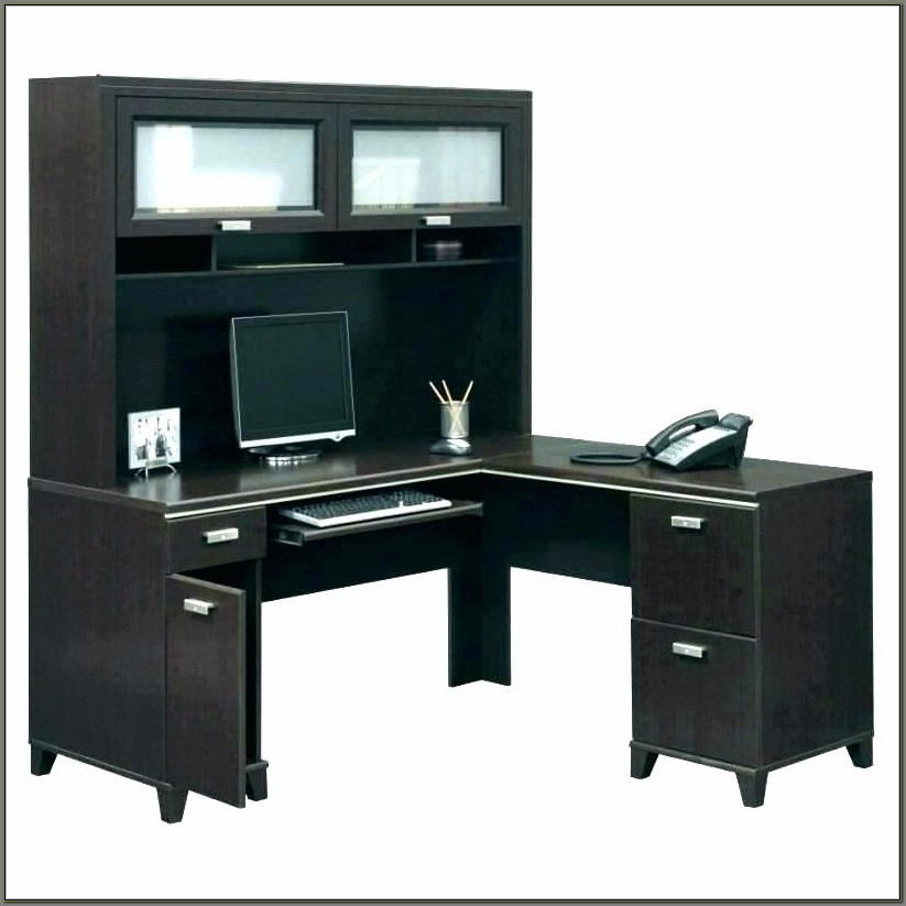 Reversible L Shaped Desk With Hutch