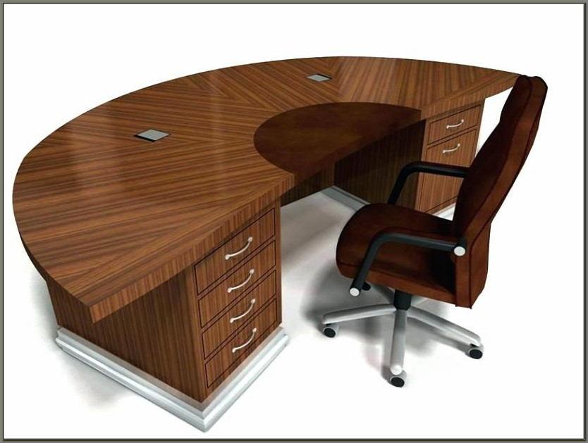 Rounded Corner Computer Desk