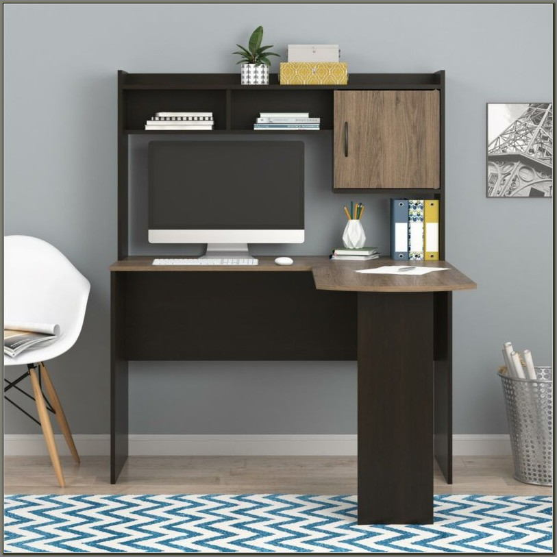 Rustic Computer Desk With Hutch