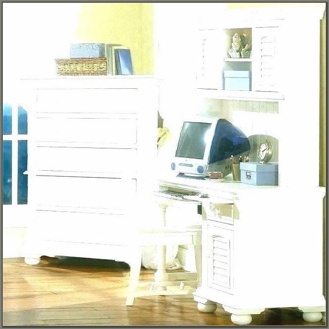 Sauder Antique White Desk With Hutch