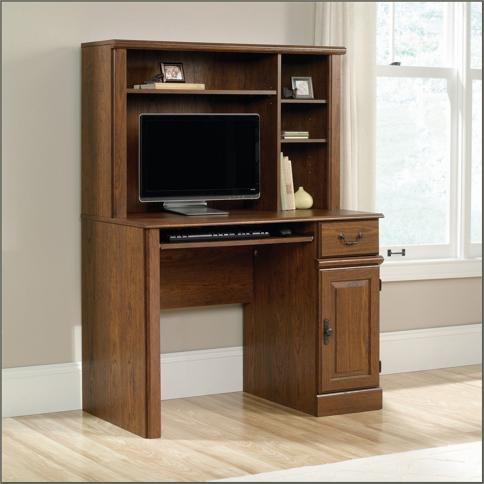 Sauder Computer Desk With Hutch Walmart