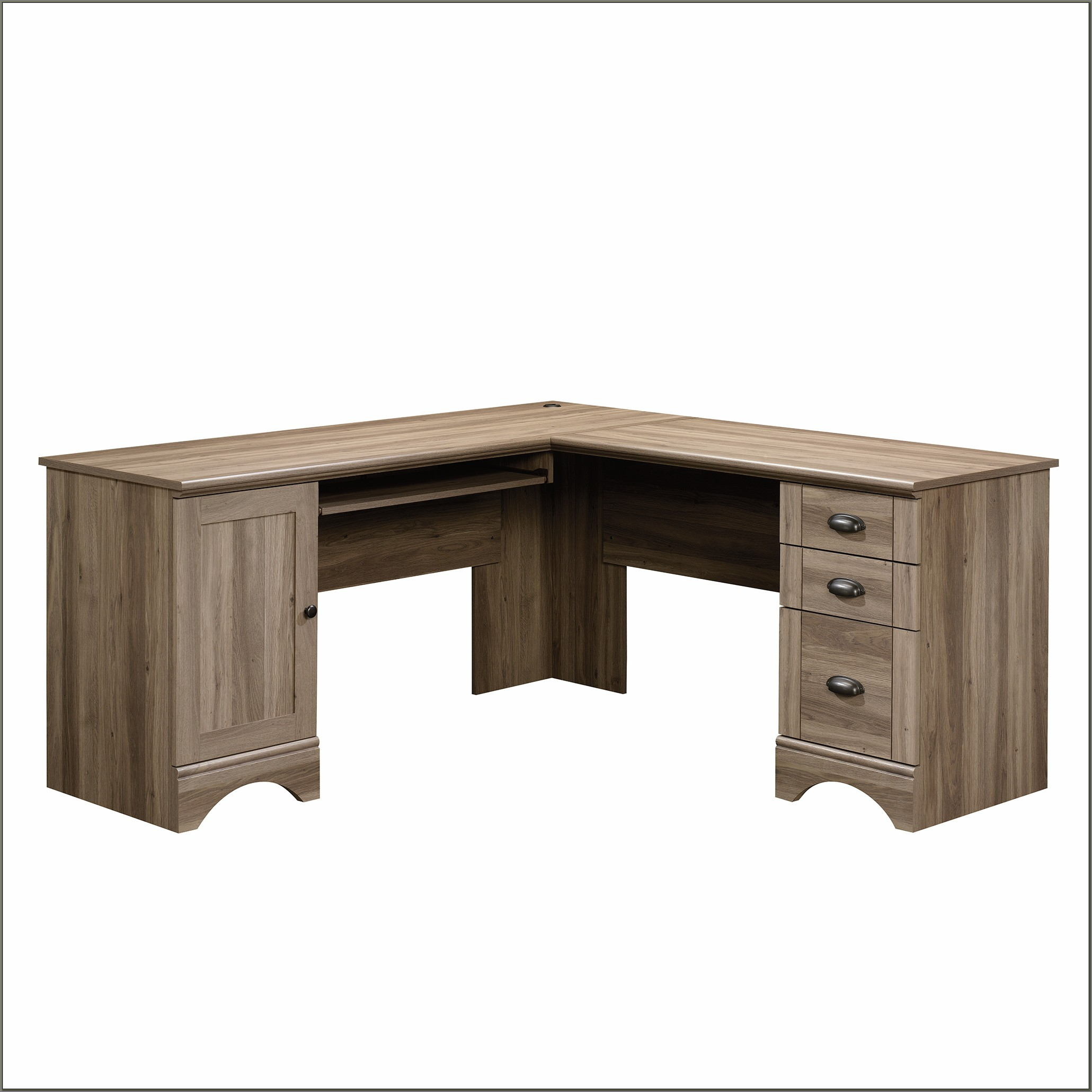 Sauder Harbor View Computer Desk Salt Oak
