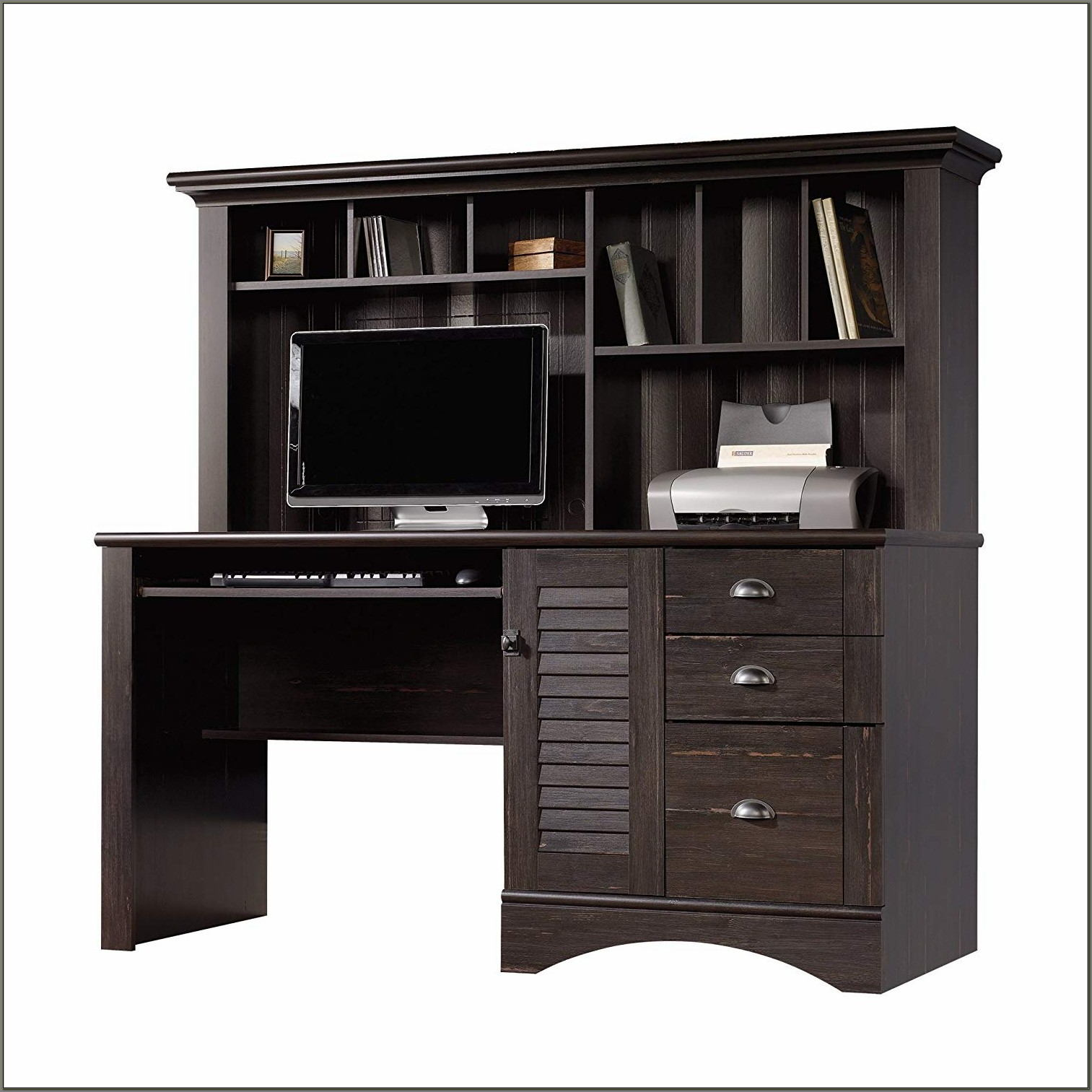 Sauder Harbor View Desk With Hutch