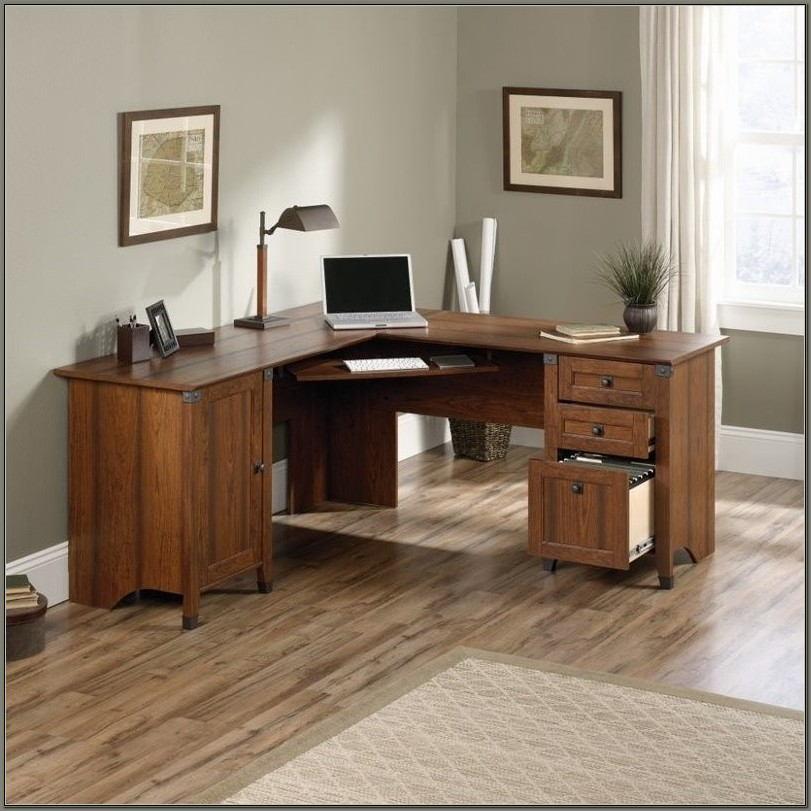 Sauder L Shaped Desk Cherry