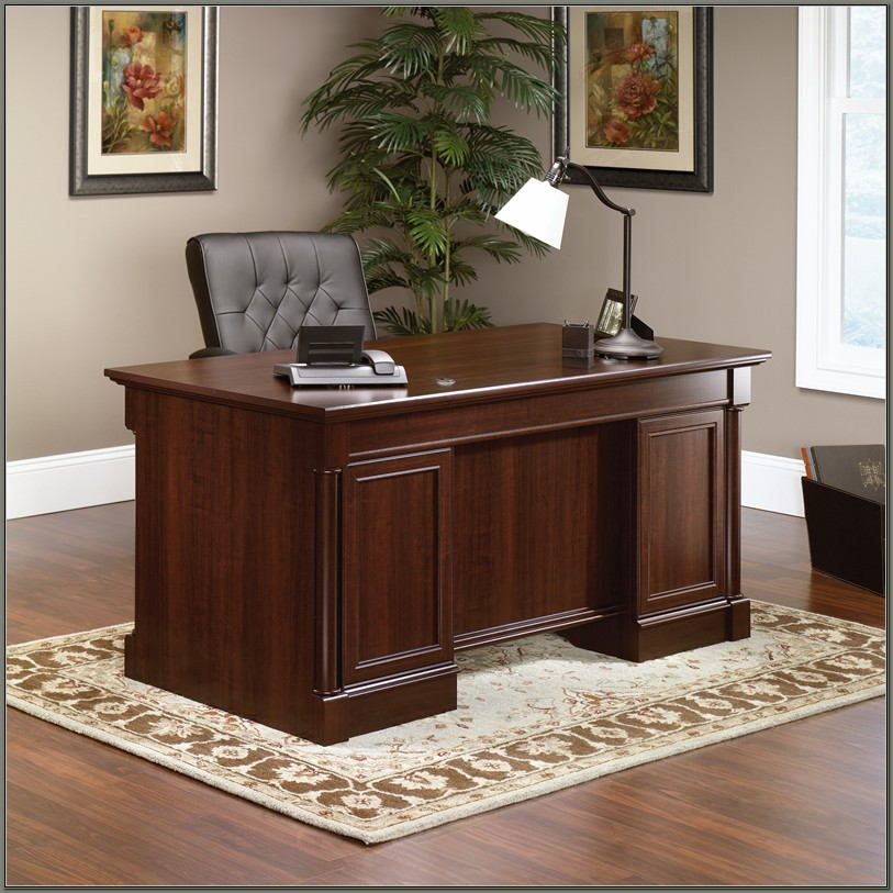 Sauder Palladia Executive Desk Cherry