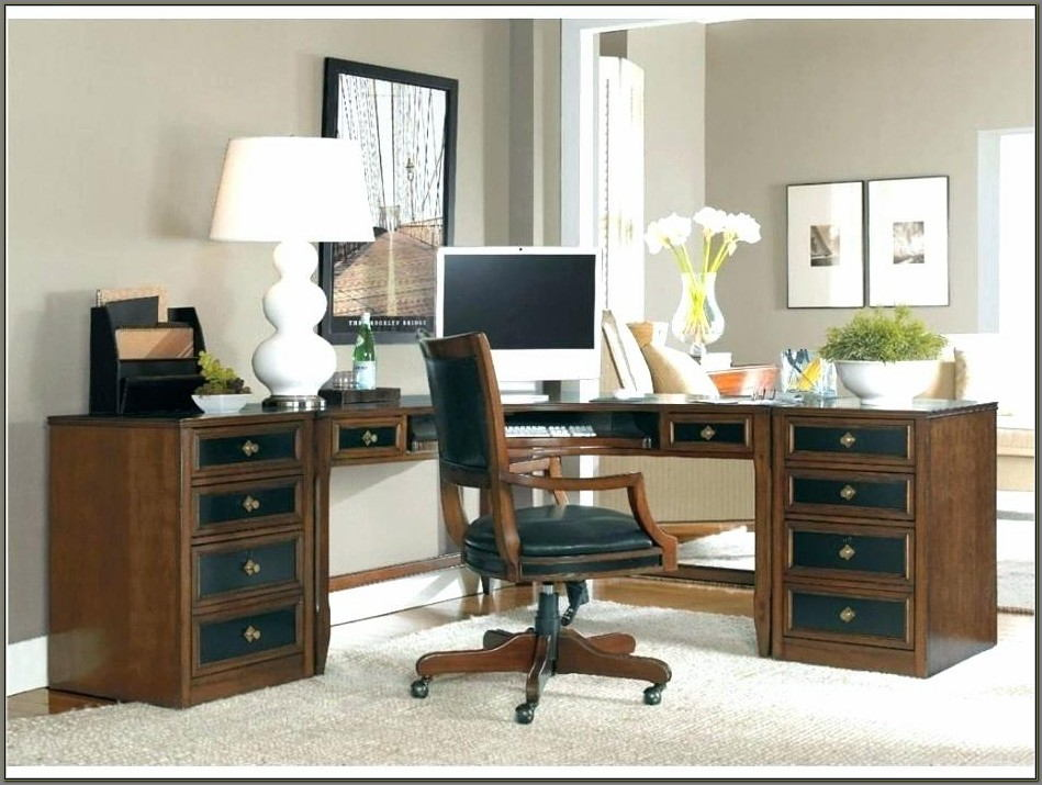 Sauder Palladia Executive Desk Wind Oak