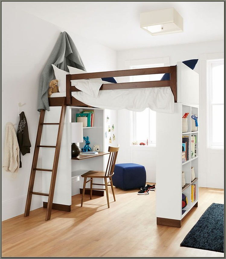 Single Bunk Bed With Desk For Girls