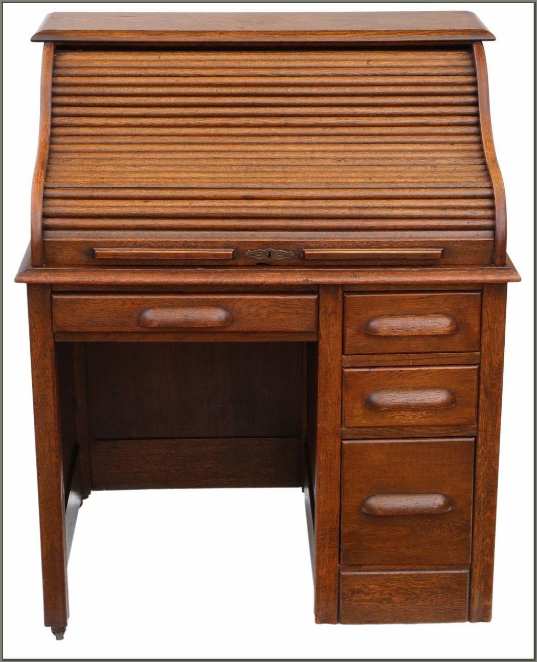 Single Pedestal Roll Top Desk