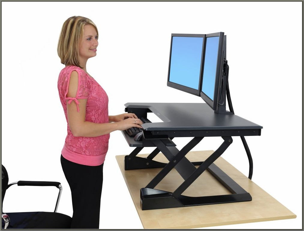 Sit Stand Computer Desktop Station