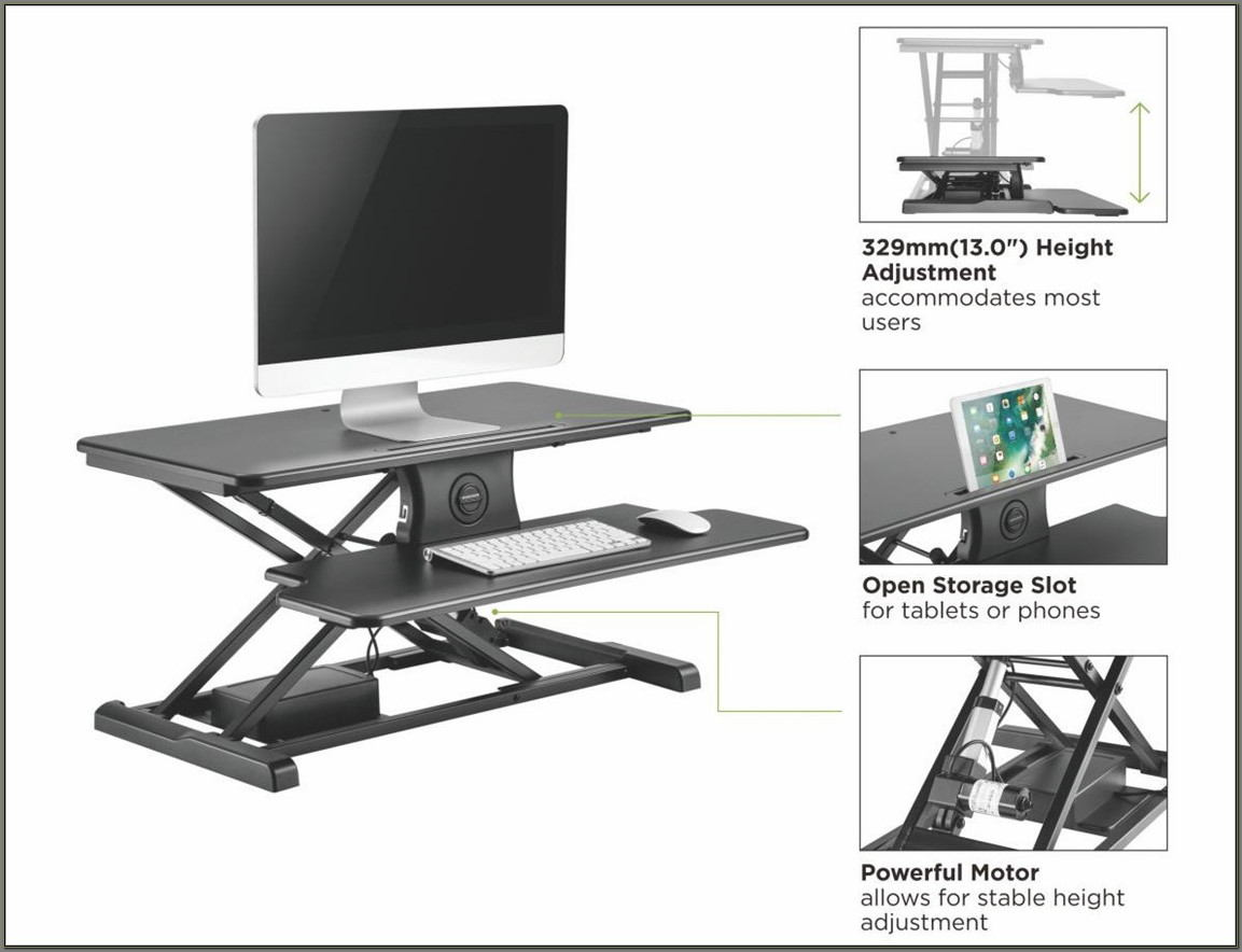 Sit Stand Desk Converter Electric