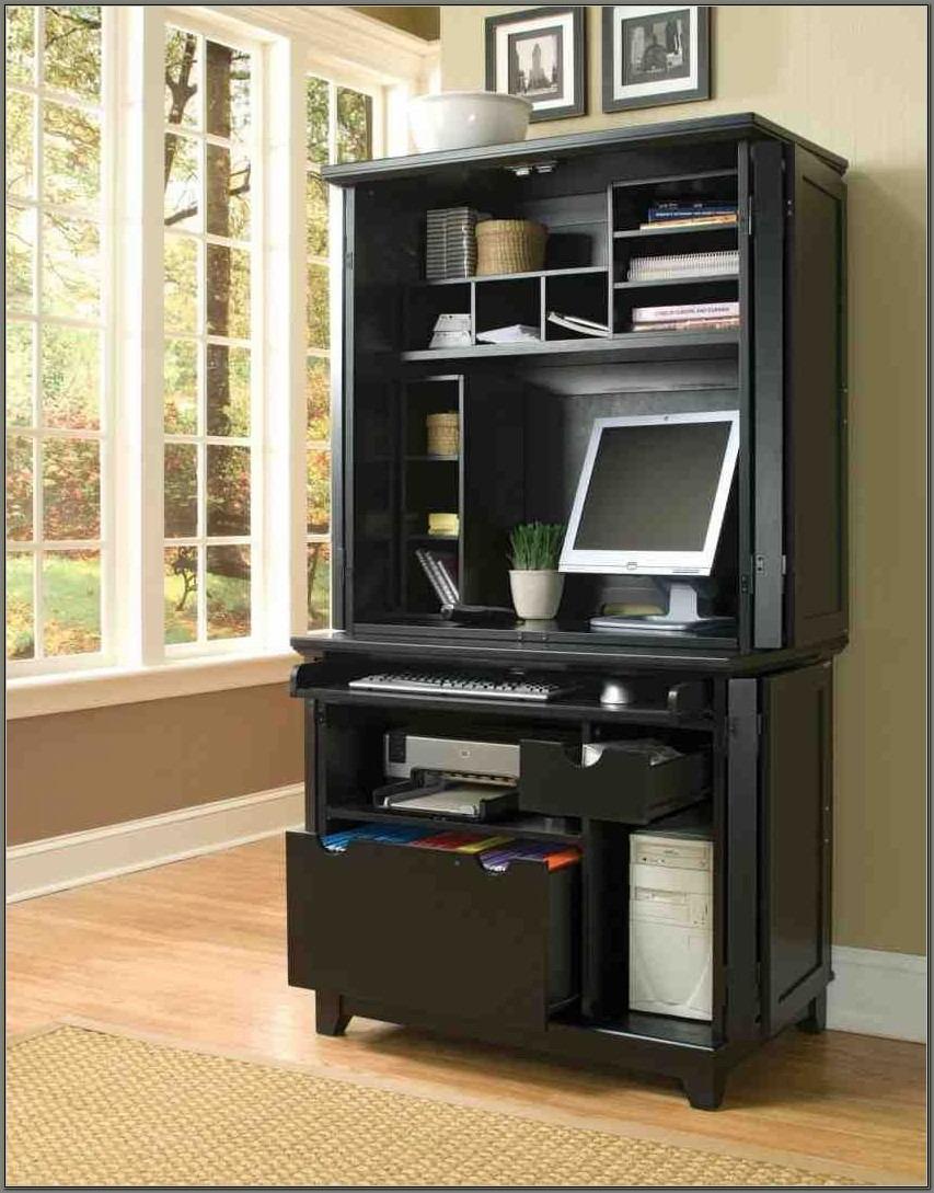 Small Computer Armoire Desk