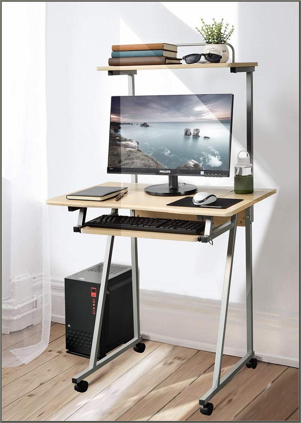Small Computer Desk With Printer Shelf