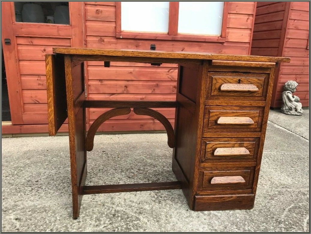 Small Oak Desk With Drawers
