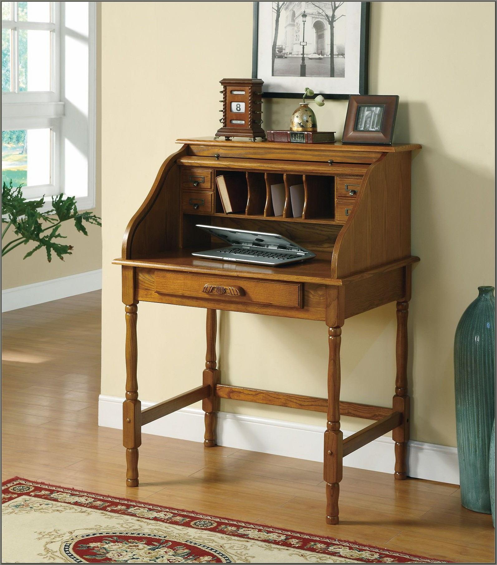 Small Roll Top Secretary Desk