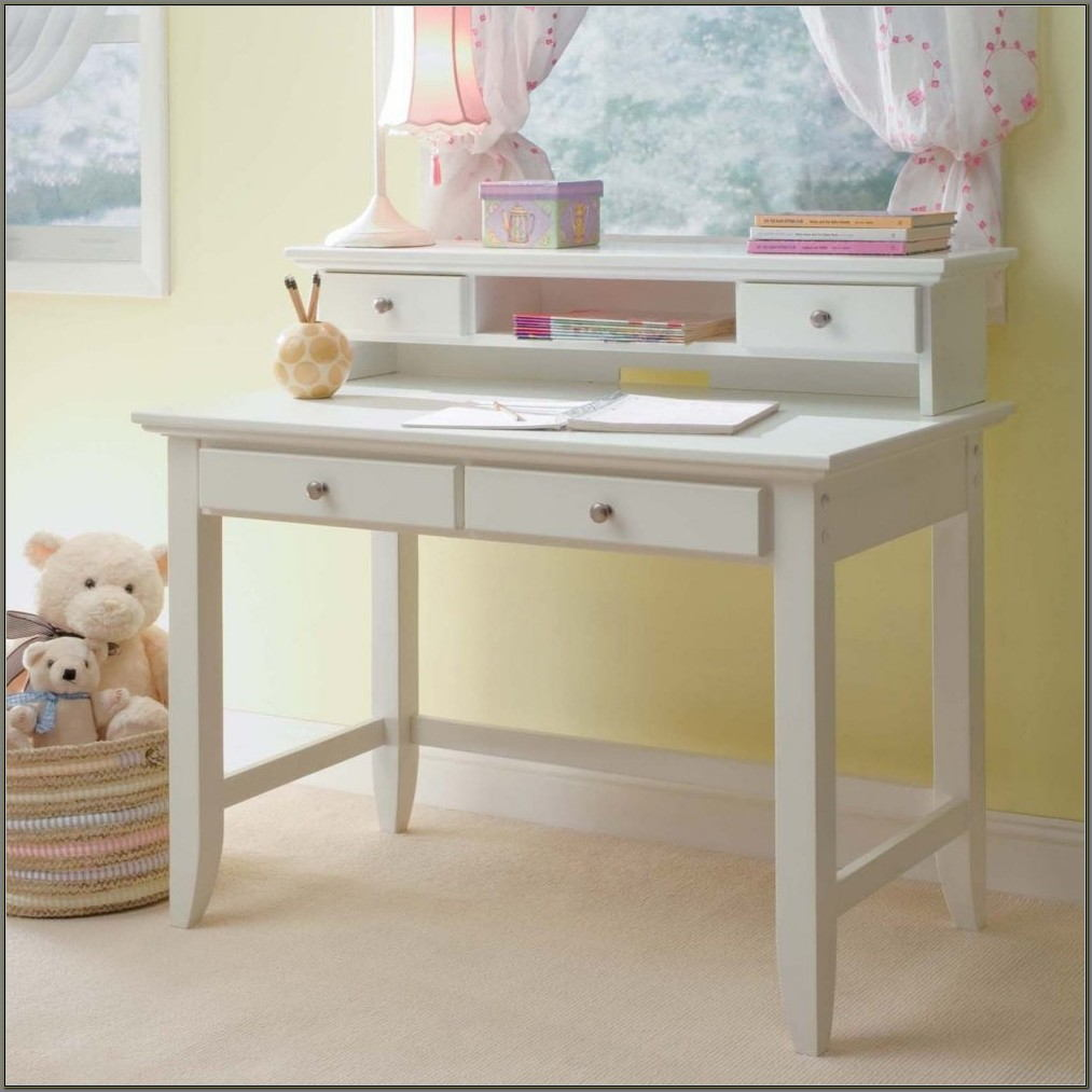 Small White Desk With Hutch