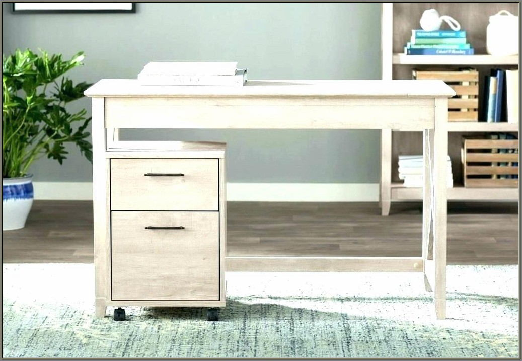 Small Wooden Desk With Drawers