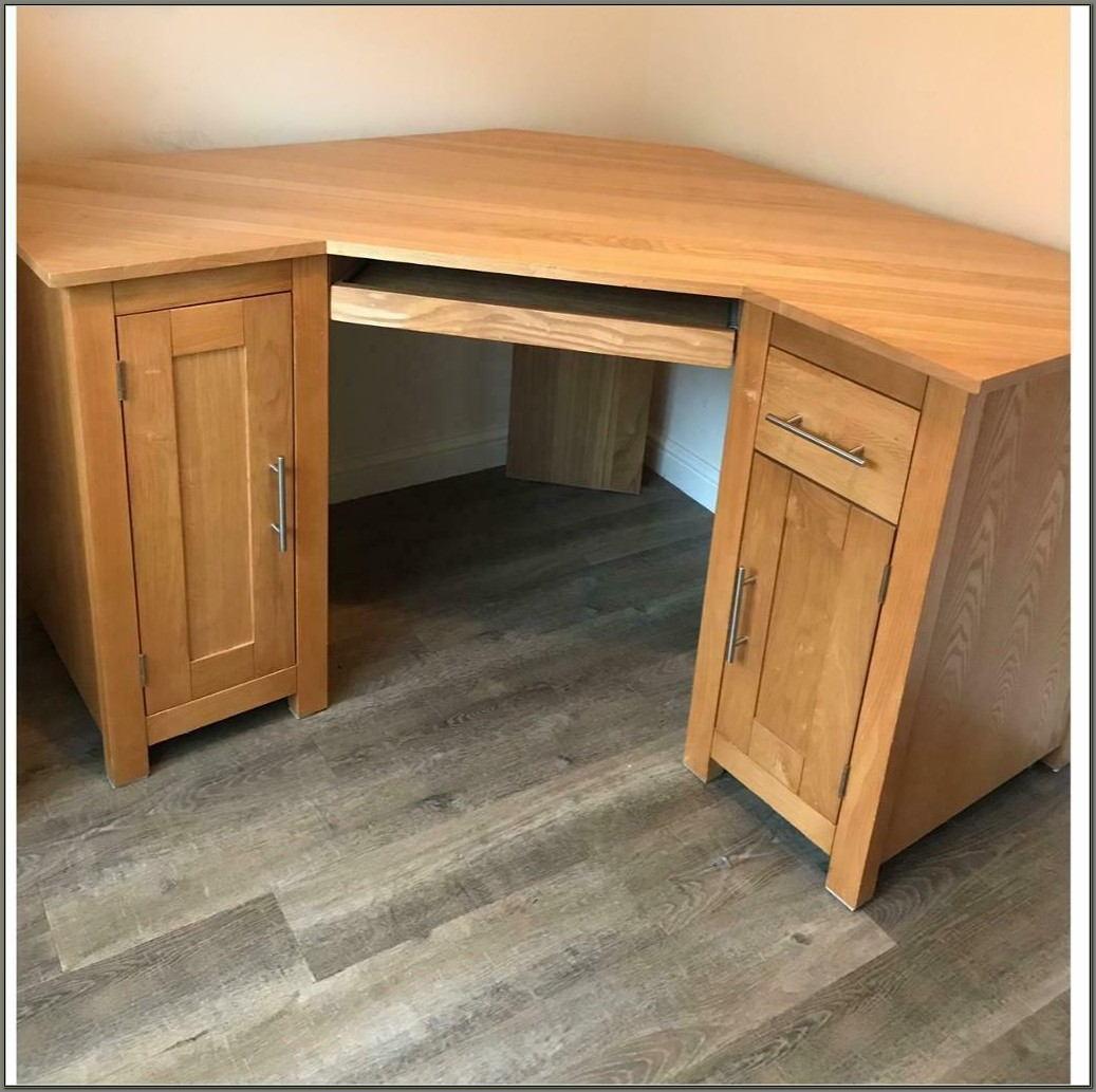 Solid Oak Corner Desk