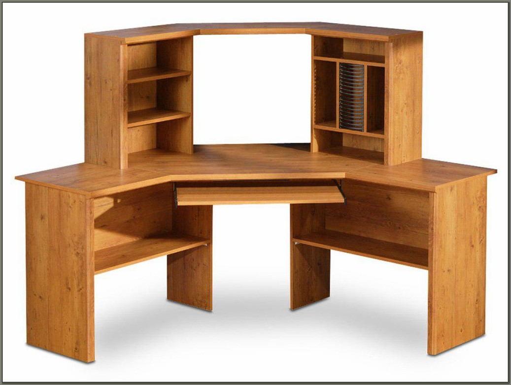 Solid Wood Corner Computer Desk