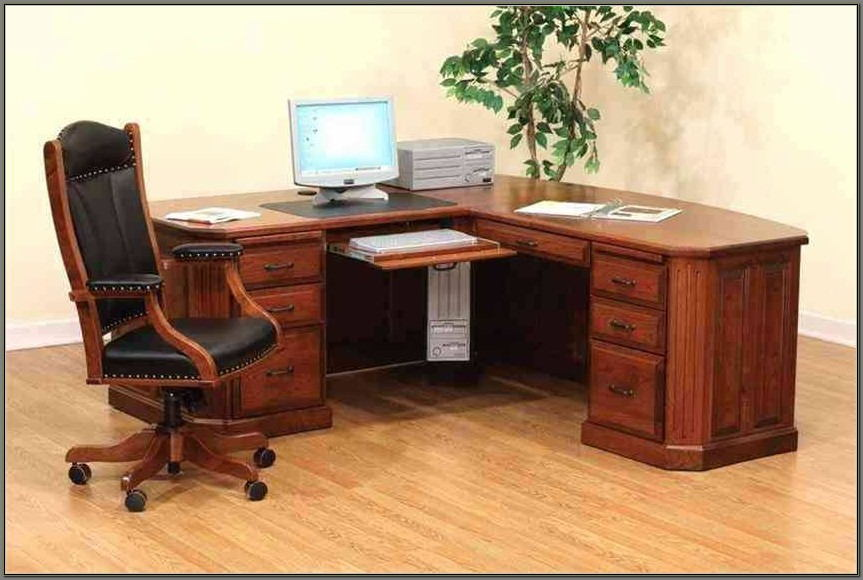 Solid Wood Corner Desks For Home