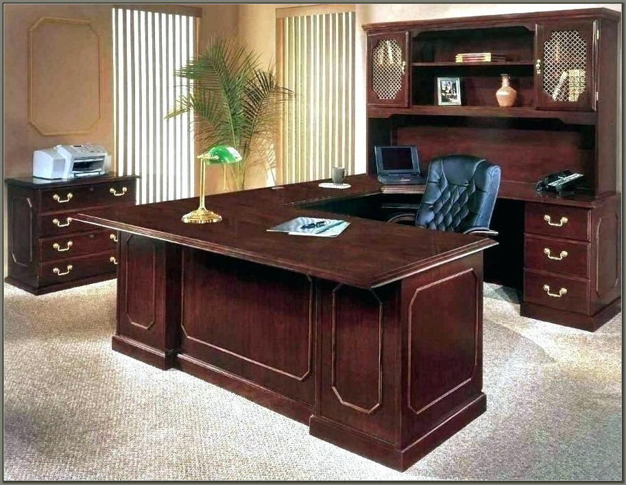 Solid Wood Executive Desk For Sale