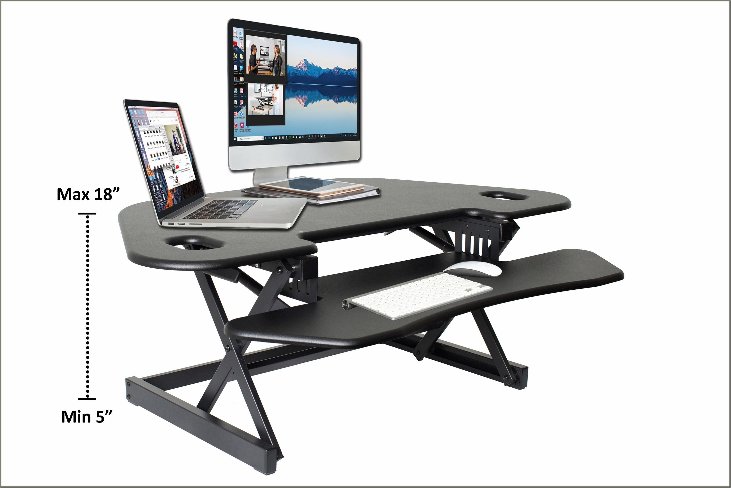 Stand Up Corner Desk Converter