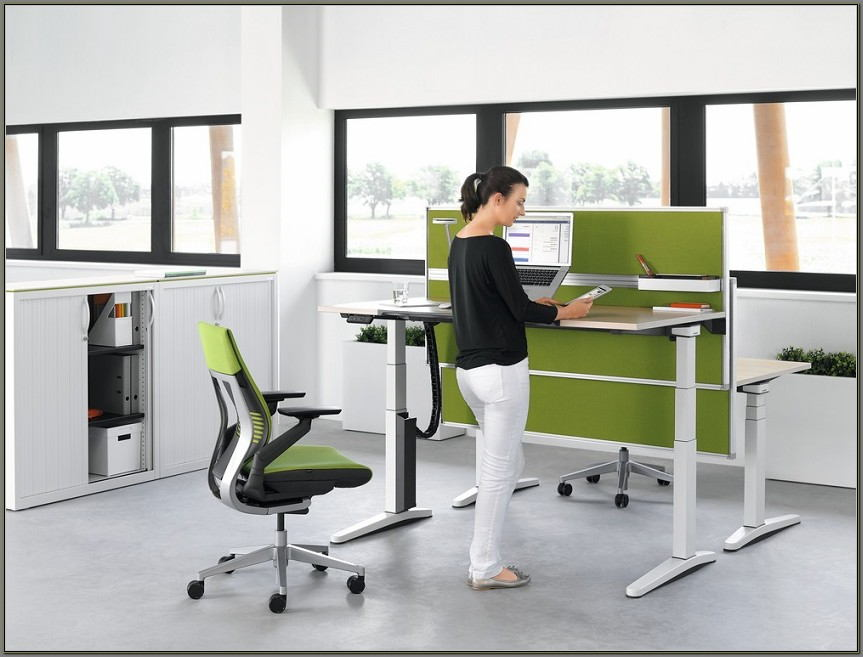 Standing Sitting Desks Adjustable