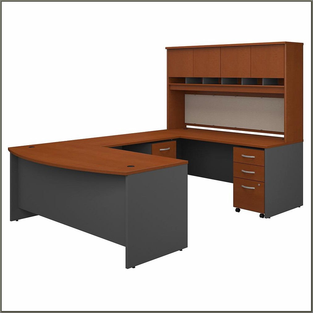 Storage Desk With Hutch