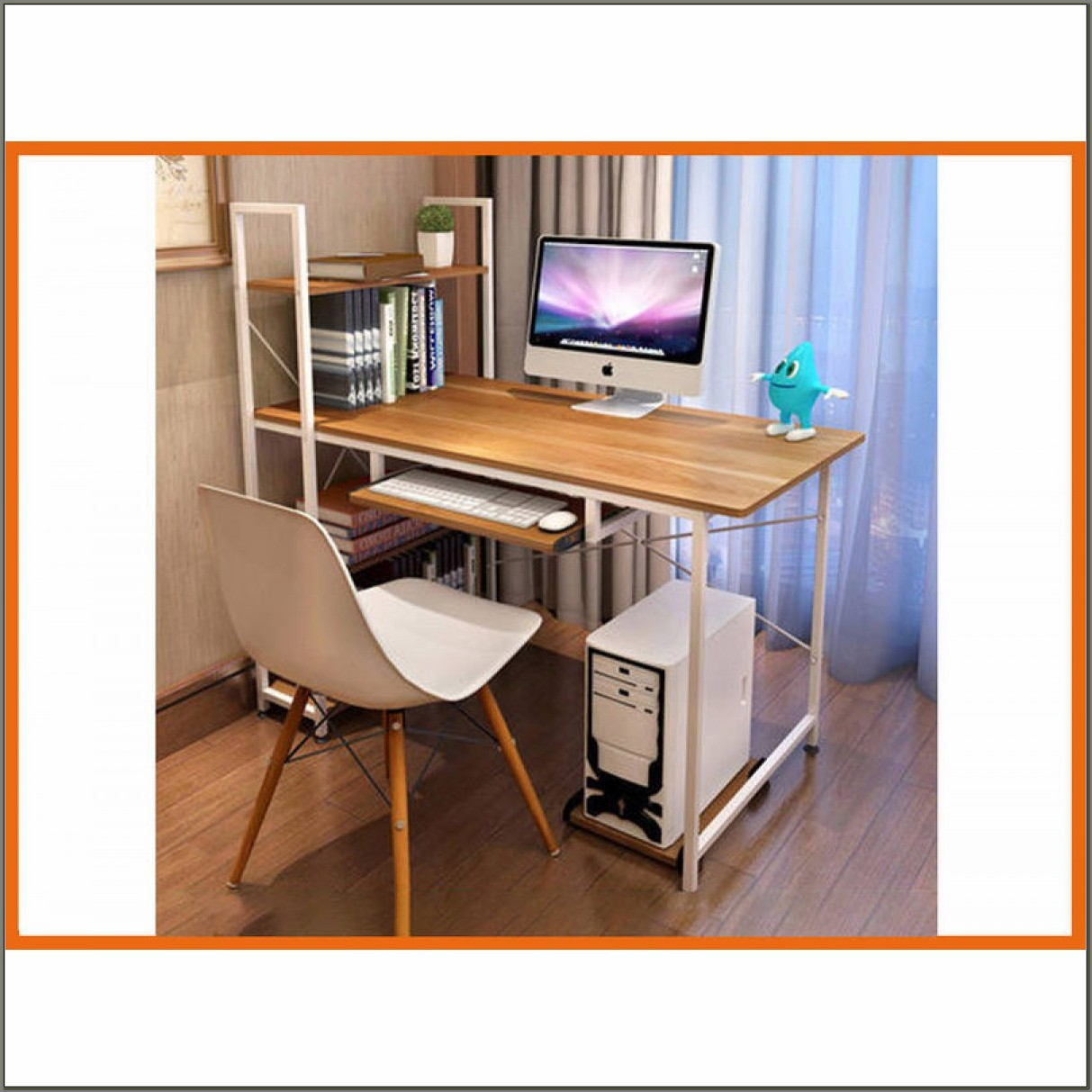 Study Desk With Bookshelf
