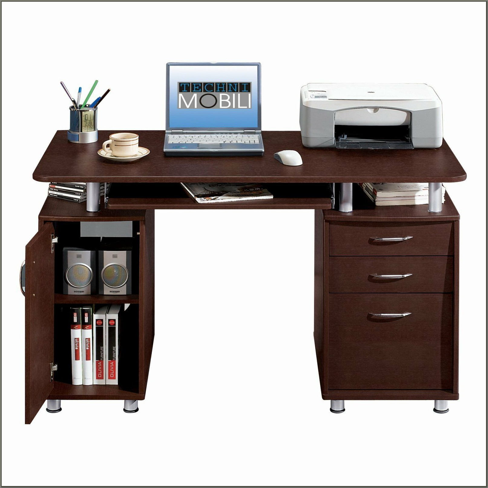 Technimobili Double Pedestal Computer Desk