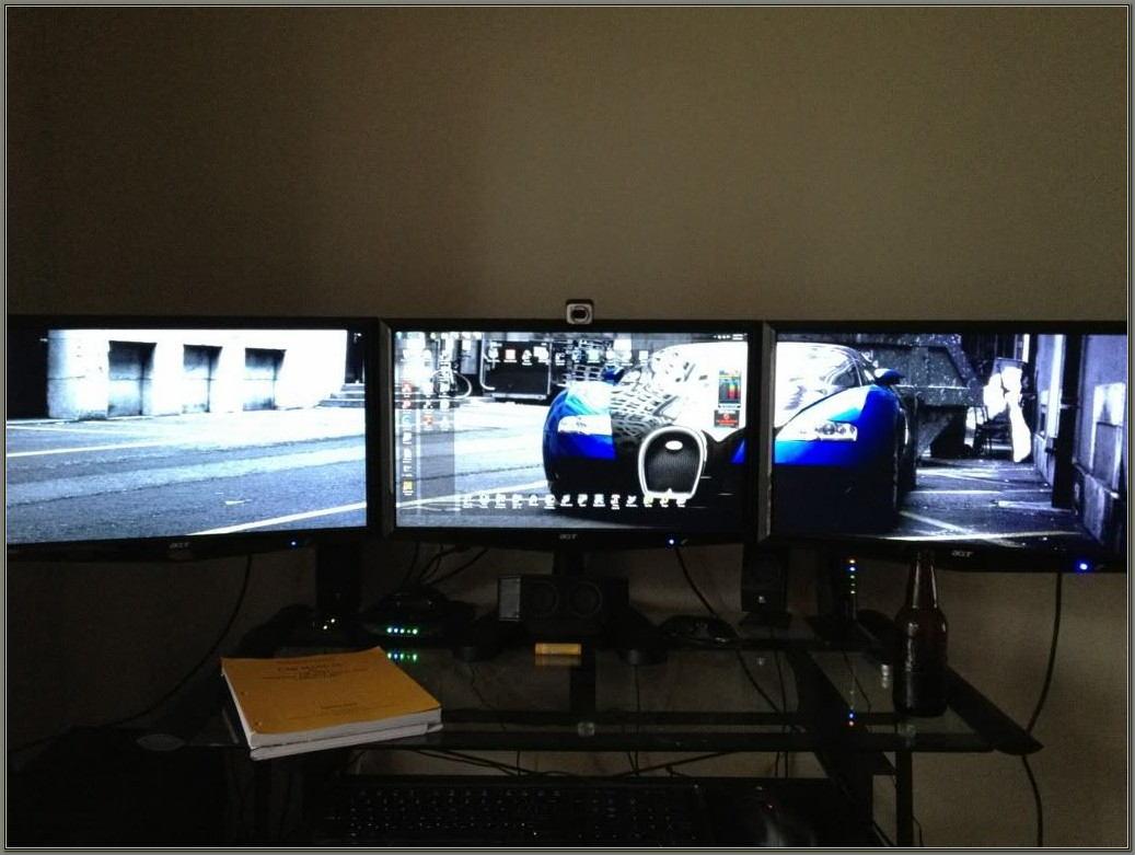 Triple Monitor Desk Stand