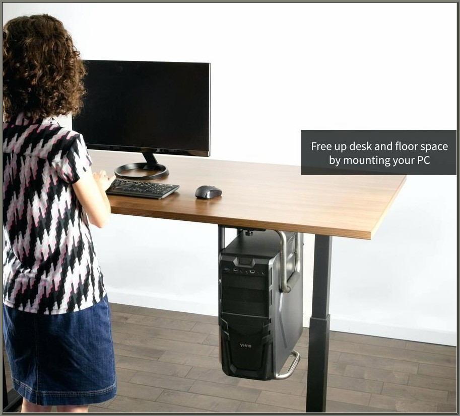 Under Desk Computer Mount Horizontal