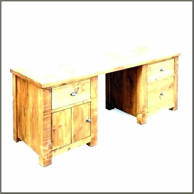 Unfinished Wood Computer Desk