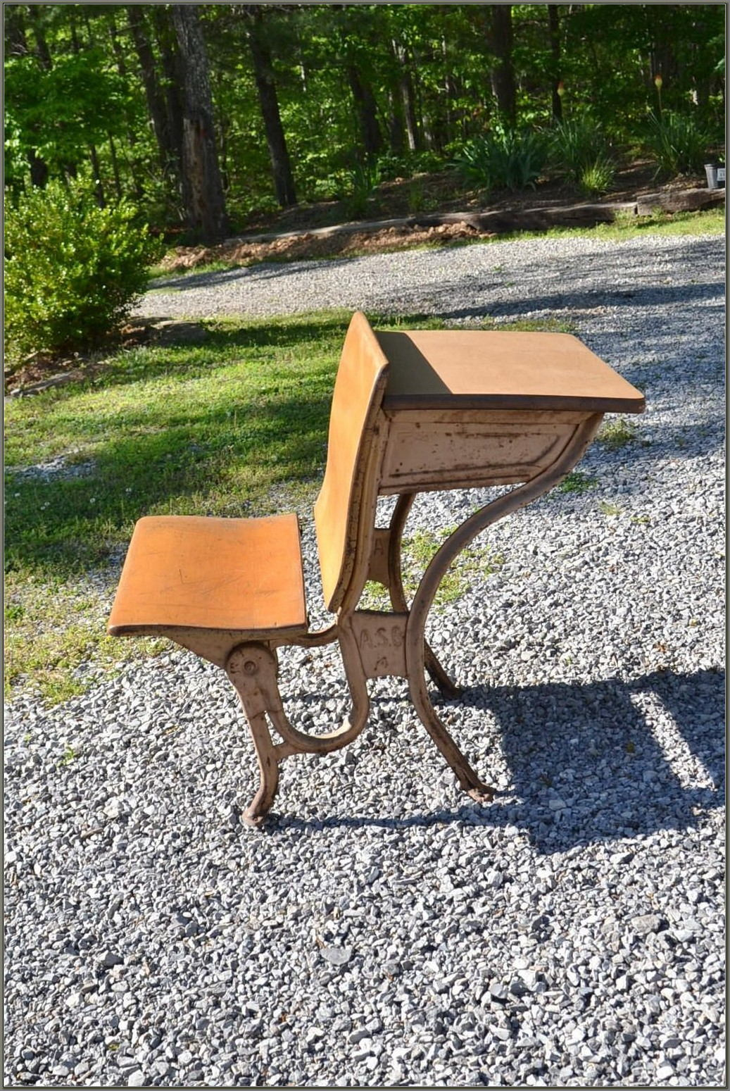 Vintage Childs School Desk And Chair
