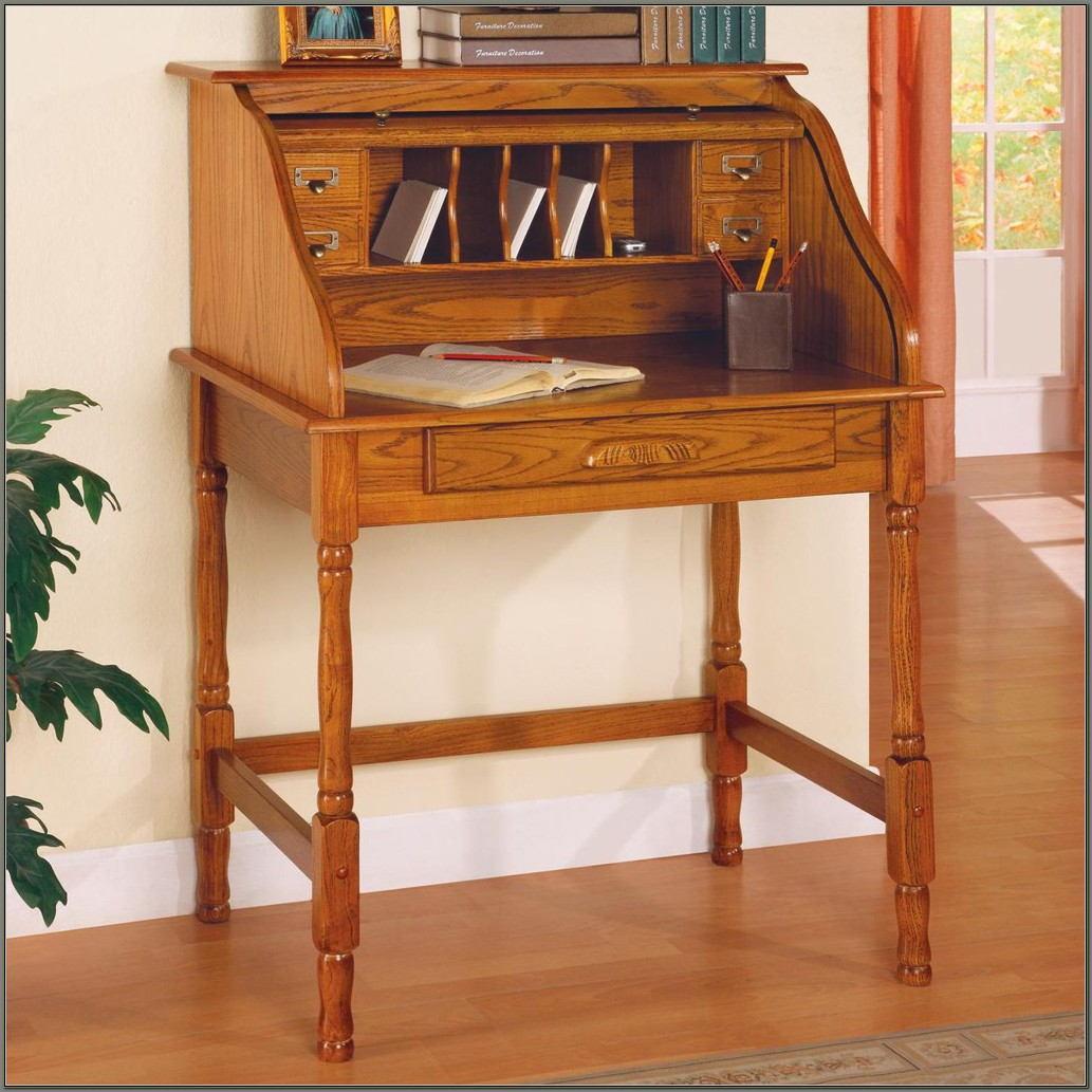 Vintage Roll Top Secretary Desk