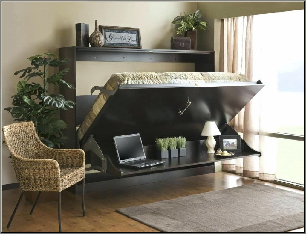 Wall Bed Desk Combo