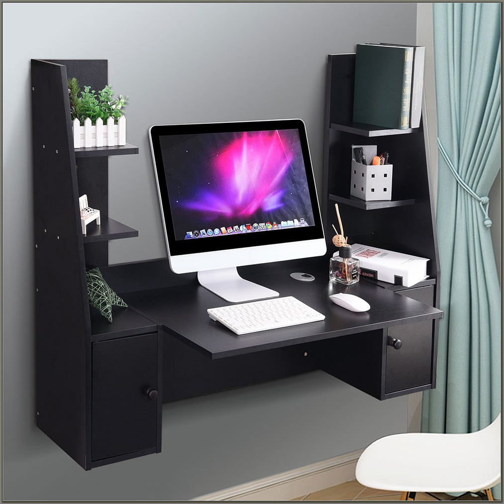Wall Mounted Floating Computer Desk