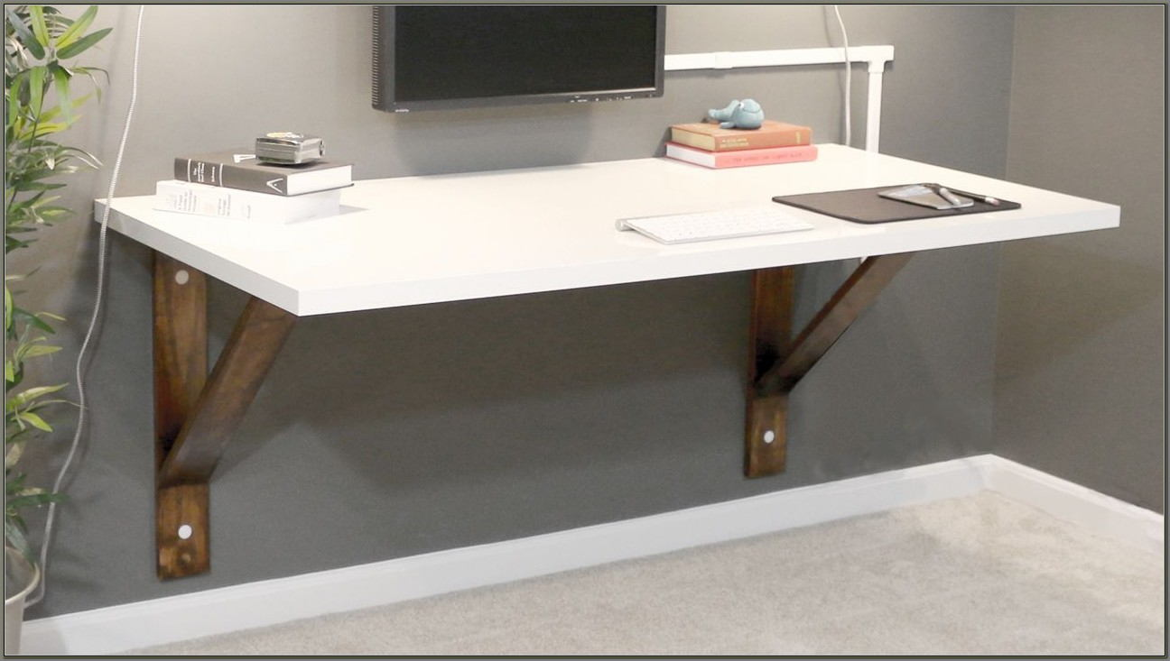 Wall Mounted Floating Desk Diy