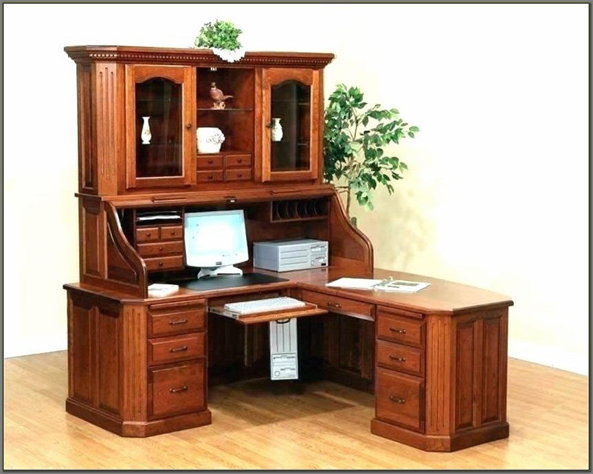 White Computer Desk With Hutch And Drawers