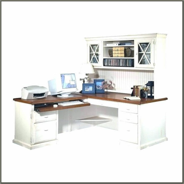 White Corner Desk With Hutch And Drawers