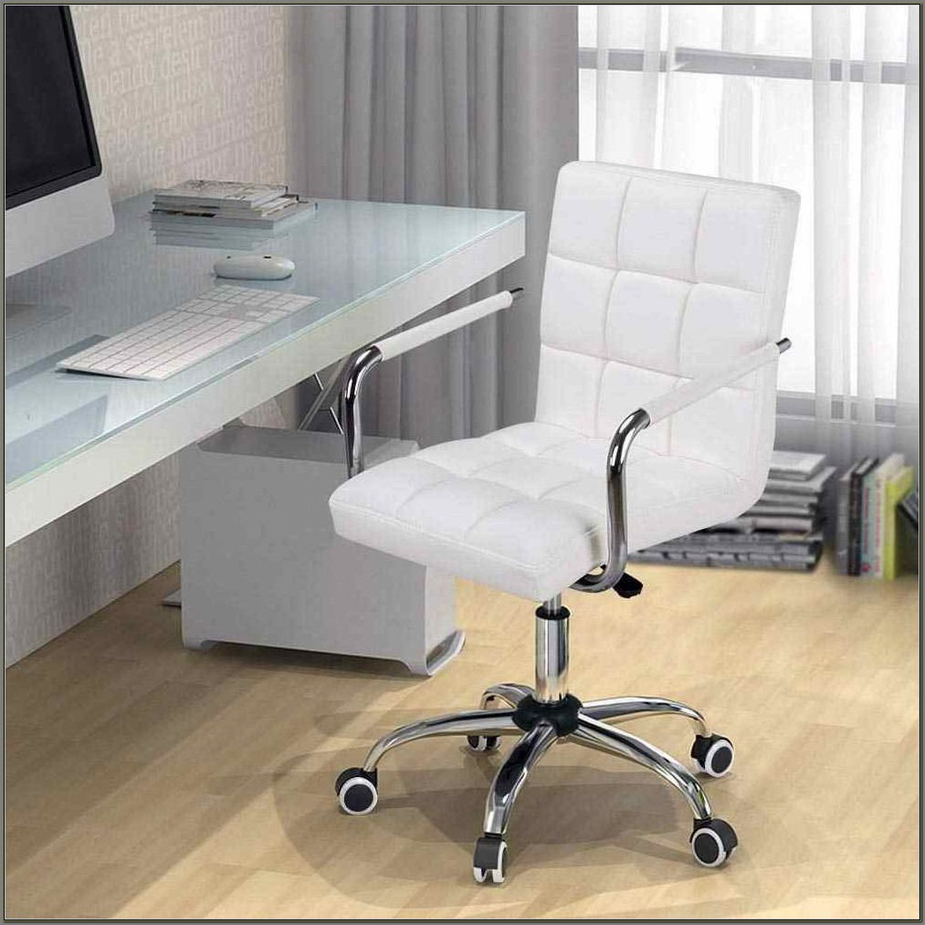 White Desk Chairs With Wheels