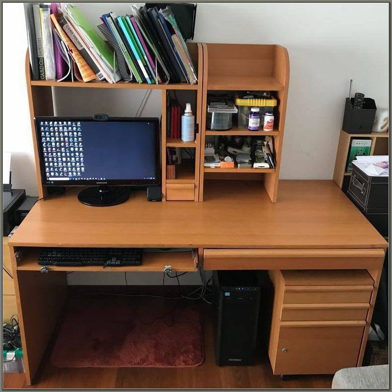 White Hideaway Computer Desk