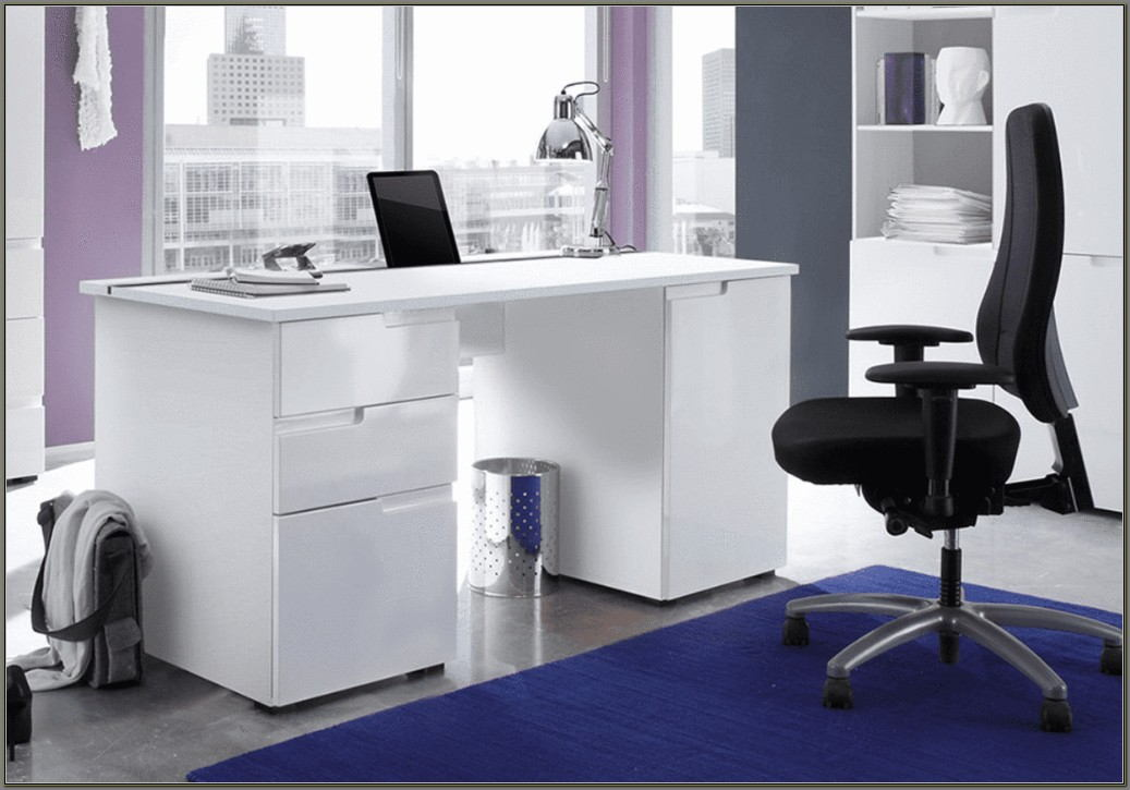 White High Gloss Computer Desk Uk