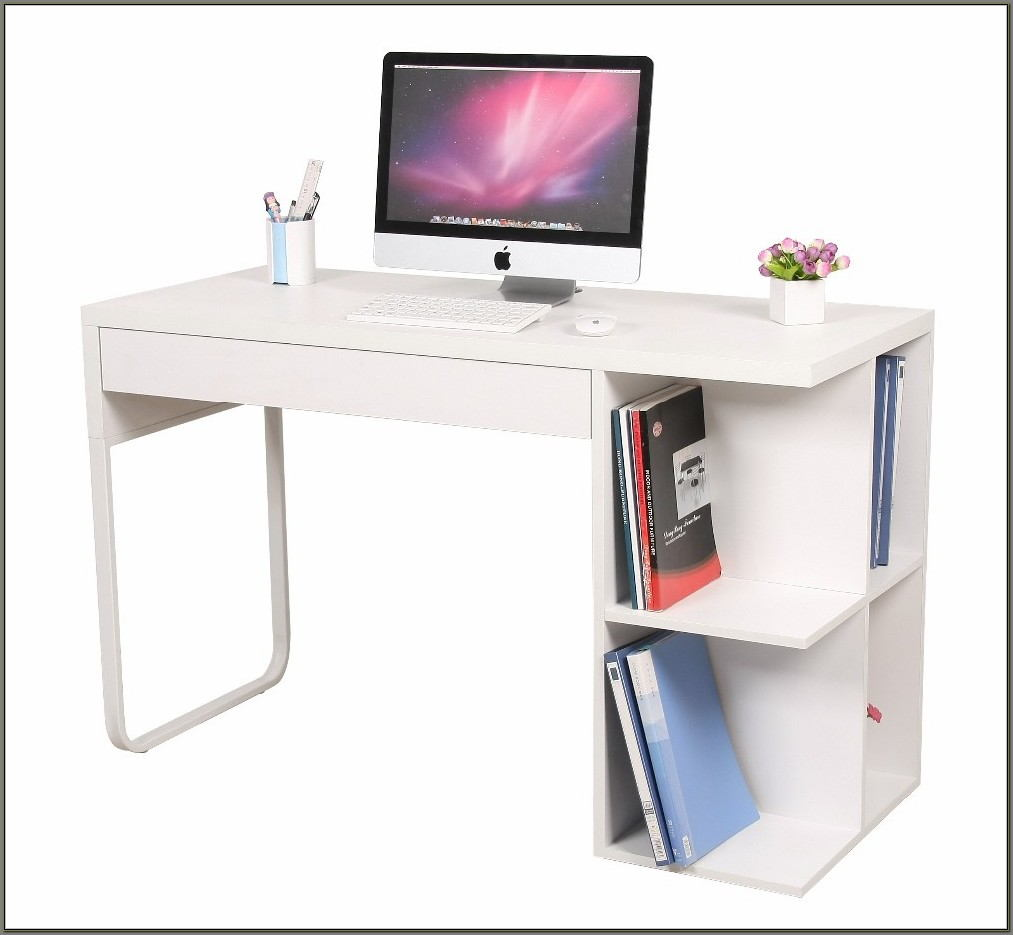 White High Gloss Computer Desk