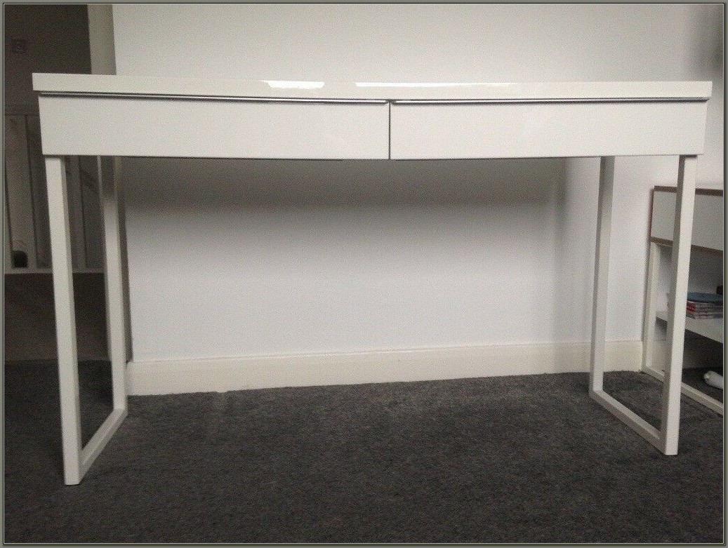 White High Gloss Desk Ikea