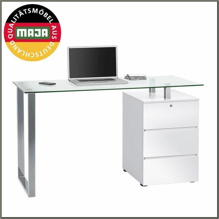 White High Gloss Office Desk